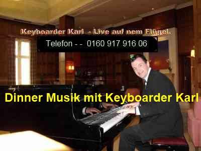 Dinner Musik Live mit Keyboarder Karl Alleinunterhalter NRW und kombiniert Party Dj NRW